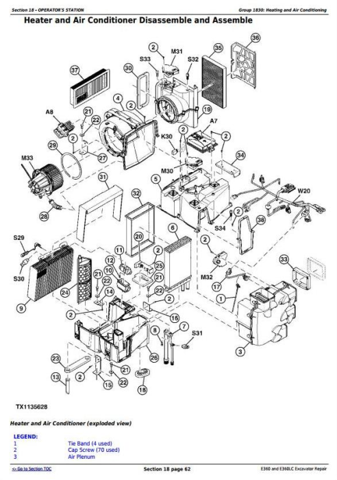 Third Additional product image for - John Deere E360 and E360LC Excavator Service Repair Manual (TM13113X19)
