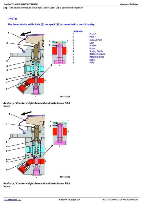 Third Additional product image for - John Deere 470GLC Excavator Troubleshooting, Operation and Test Service Manual (TM13173X19)