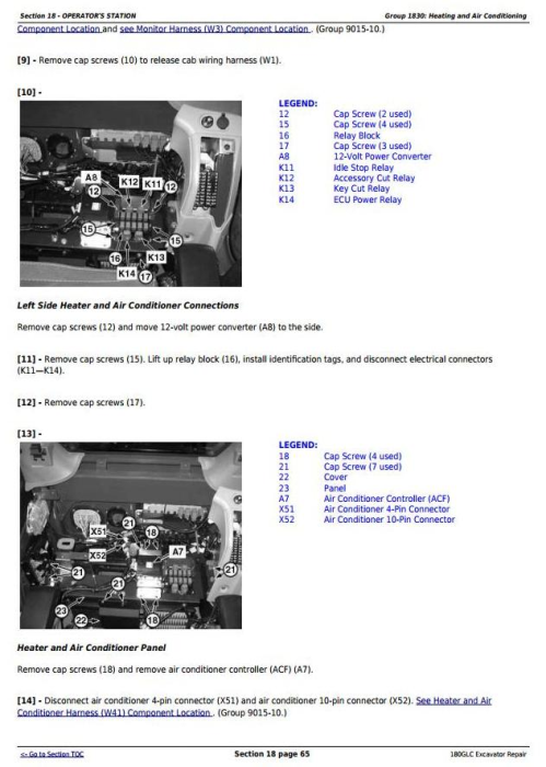 Second Additional product image for - John Deere 180GLC (PIN: 1F9180GX__D020001-) Excavator Service Repair Technical Manual (TM13195X19)