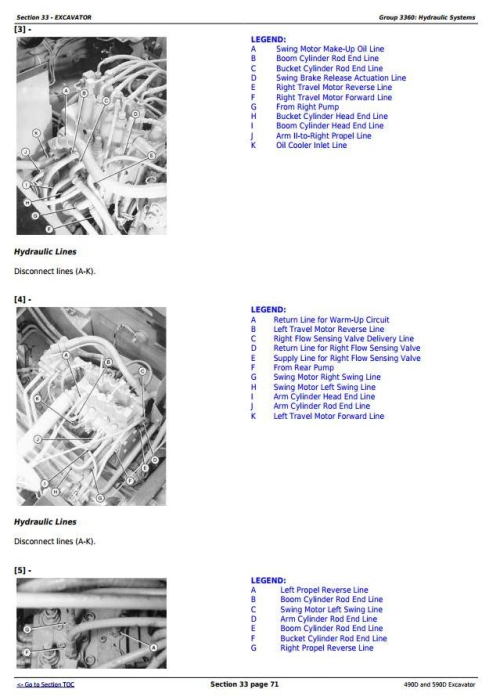 Third Additional product image for - John Deere 490D and 590D Excavator Service Repair Technical Manual (tm1390)