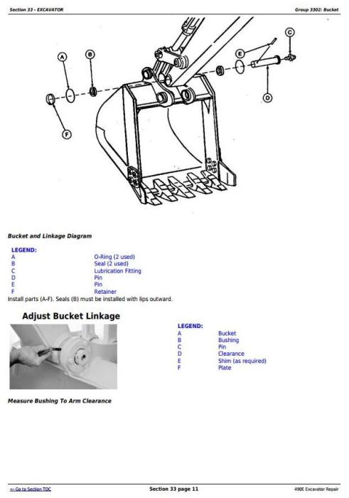 John Deere 490E Excavator Service Repair Technical Manual