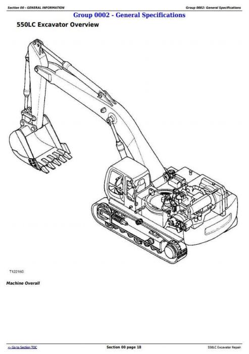 John Deere 550LC Excavator Service Repair Technical Manual