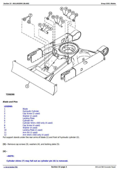 Third Additional product image for - John Deere 35D and 50D Compact Excavator Service Repair Technical Manual (TM2264)