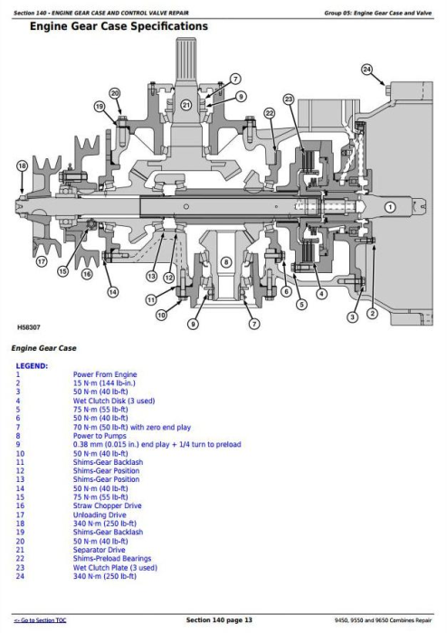 Fourth Additional product image for - John Deere 9450, 9550 and 9650 Combines (SN. before 695100) Service Repair Technical Manual (tm1801)