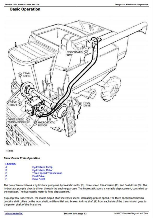 Fourth Additional product image for - John Deere 9650 CTS Combines Diagnostic & Tests Service Manual (TM1822)