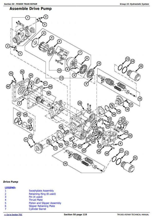 Third Additional product image for - John Deere 9650 STS (-695500) , 9750 STS (-695600) Combines Service Repair Technical Manual (TM1901)