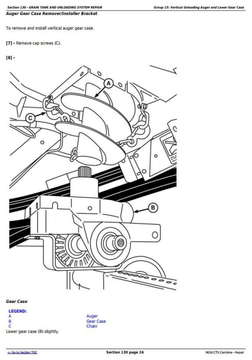 Fourth Additional product image for - John Deere 9650 CTS Combine (SN. 695401-700400) Service Repair Technical Manual (TM2021)