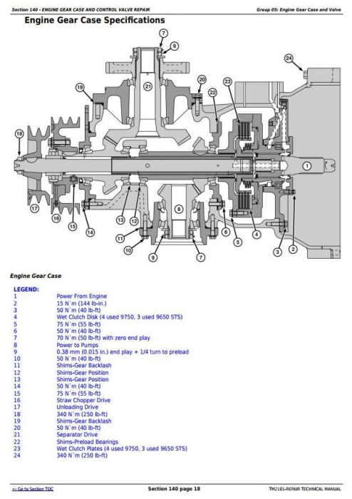 Third Additional product image for - John Deere 9650STS (SN.695501-), 9750STS (SN.695601-) Combines Service Repair Technical Manual (TM2101)