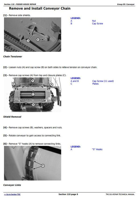 Fourth Additional product image for - John Deere 9650STS (SN.695501-), 9750STS (SN.695601-) Combines Service Repair Technical Manual (TM2101)