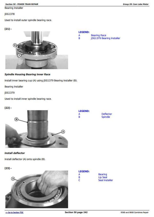 Fourth Additional product image for - John Deere 9560 and 9660 Combines (SN. 705201-) Service Repair Technical Manual (TM2161)