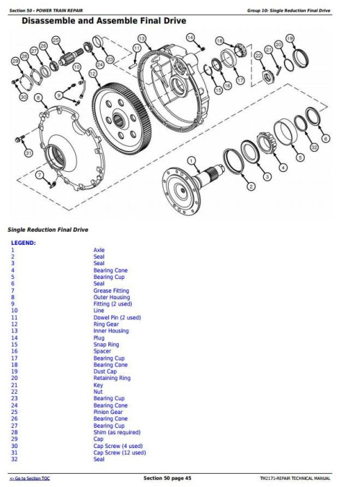 Fourth Additional product image for - John Deere 9660 CTS Self-Propelled Combine (SN.from 705401) Service Repair Technical Manual (TM2171)