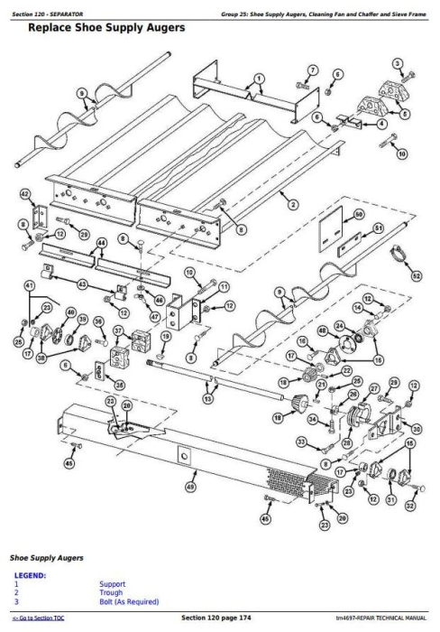 Third Additional product image for - John Deere 9540, 9560, 9580, 9640, 9660, 9680 CWS/WTS Combine Service RepairTechnical Manual (tm4697)