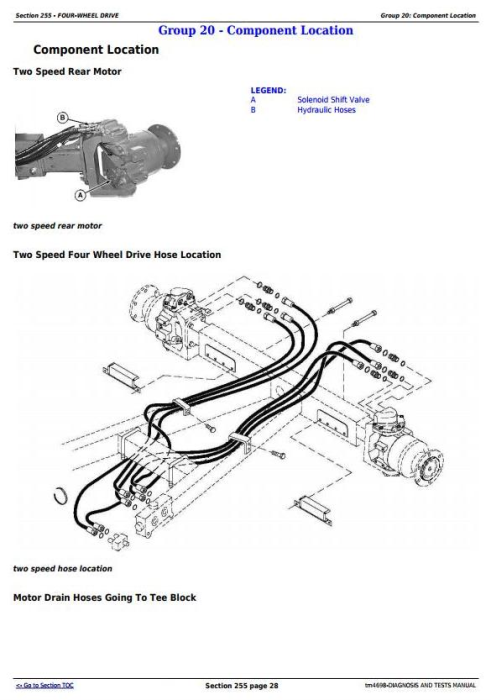 Third Additional product image for - John Deere 9540, 9560, 9580, 9640, 9660, 9680 CWS & WTS Combines Diagnostic Service Manual (tm4698)