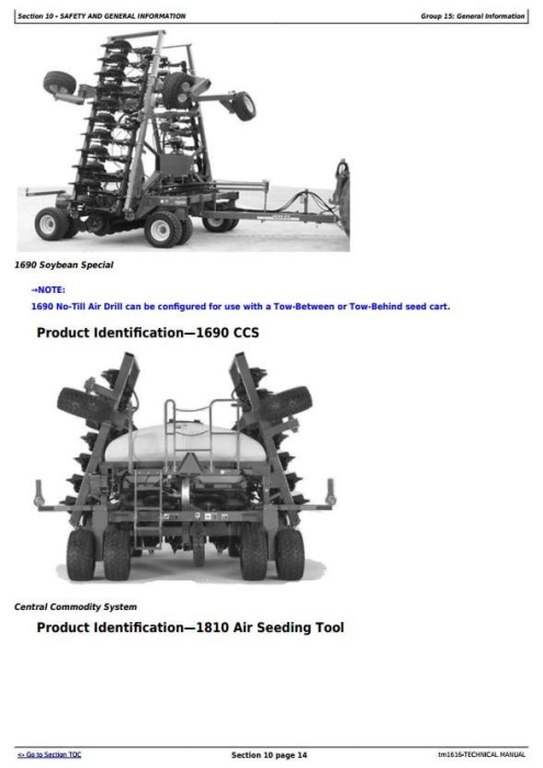 John Deere CCS Air Seeding Tools Technical Service Manual