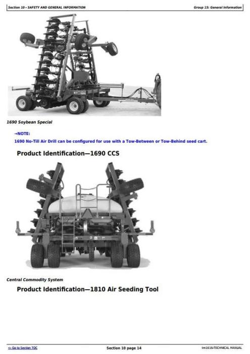 John Deere CCS Air Seeding Tools Technical Service Manual