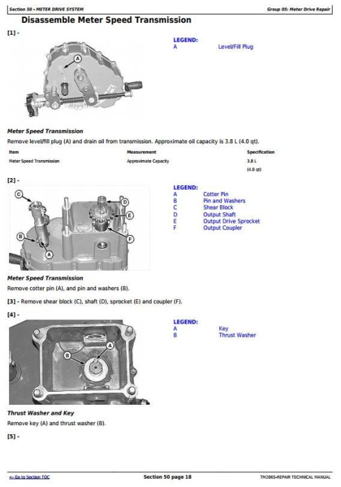 Fourth Additional product image for - John Deere Central Commodity System Seed Metering for Air Seeders Service Repair Manual (TM2065)