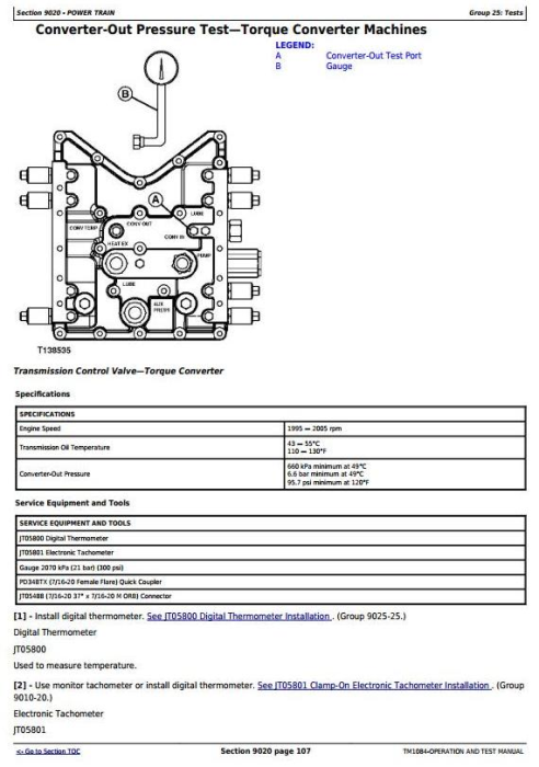 Second Additional product image for - John Deere 640F-III, 648G-III, Timberjack 460D (SN.604614-) Skidder Diagnostic Service Manual TM1084