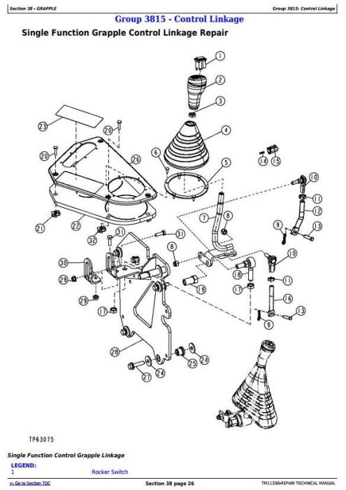 Third Additional product image for - John Deere 540H Cable Skidder and 548H Grapple Skidder (SN.-630435) Service Repair Manual (TM11330)
