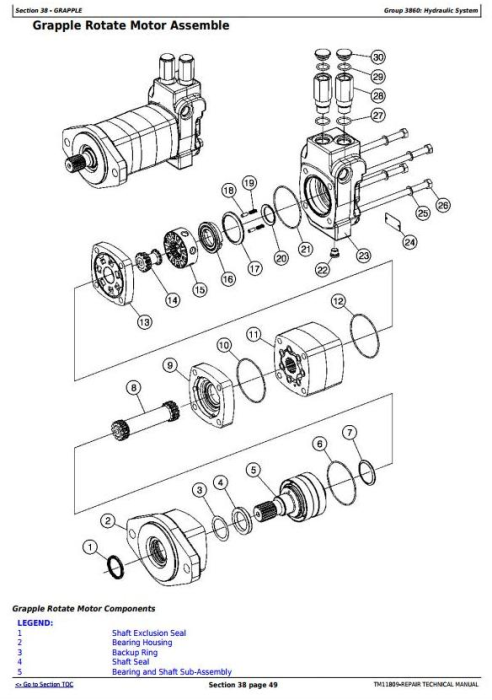 Third Additional product image for - John Deere 540G-III and 548G-III (SN. 630436- ) Skidders Service Repair Technical Manual (TM11809)
