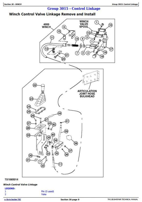 Second Additional product image for - John Deere 540H Cable Skidder and 548H Grapple Skidder (SN.630436-) Service Repair Manual (TM11810)