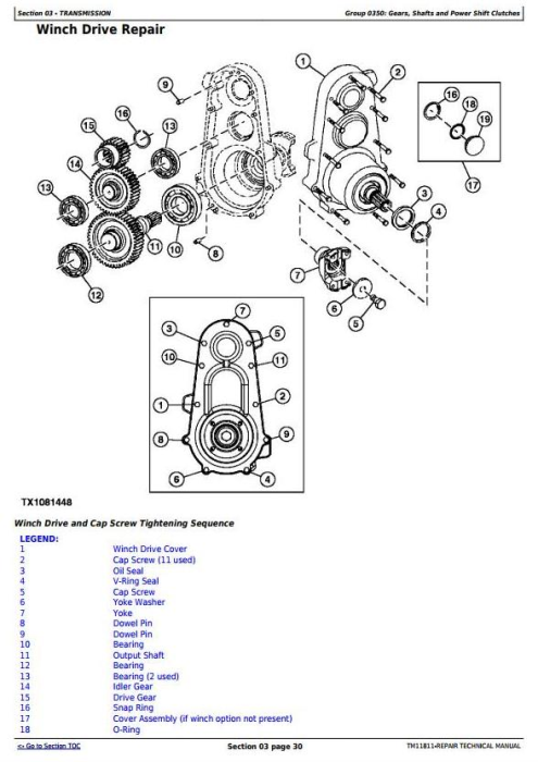 Fourth Additional product image for - John Deere 640H and 648H (SN. from 630436) Skidders Service Repair Technical Manual (TM11811)