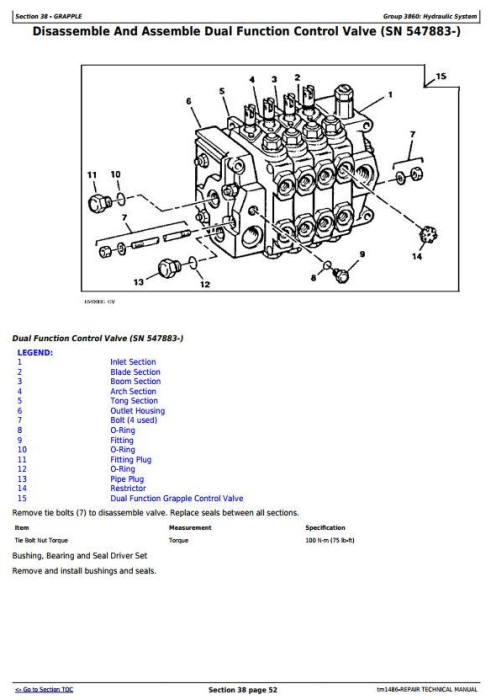 Third Additional product image for - John Deere 540E, 640E, 740E Cable Skidder; 548E, 648E, 748E Grapple Skidder Repair Manual (TM1486)