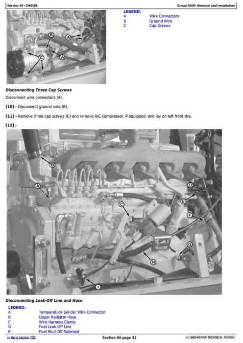 Second Additional product image for - John Deere 540G, 640G, 740G, 548G, 648G, 748G (SN. -565684) Skidders Repair Service Manual (TM1600)