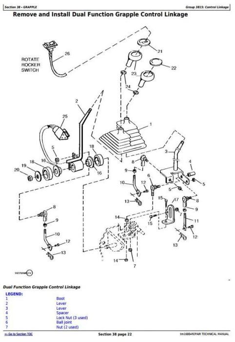 Third Additional product image for - John Deere 540G, 640G, 740G, 548G, 648G, 748G (SN. -565684) Skidders Repair Service Manual (TM1600)