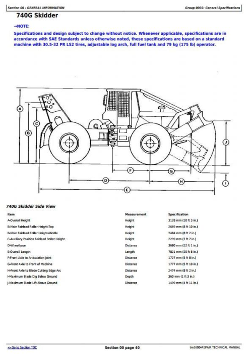 Fourth Additional product image for - John Deere 540G, 640G, 740G, 548G, 648G, 748G (SN. -565684) Skidders Repair Service Manual (TM1600)