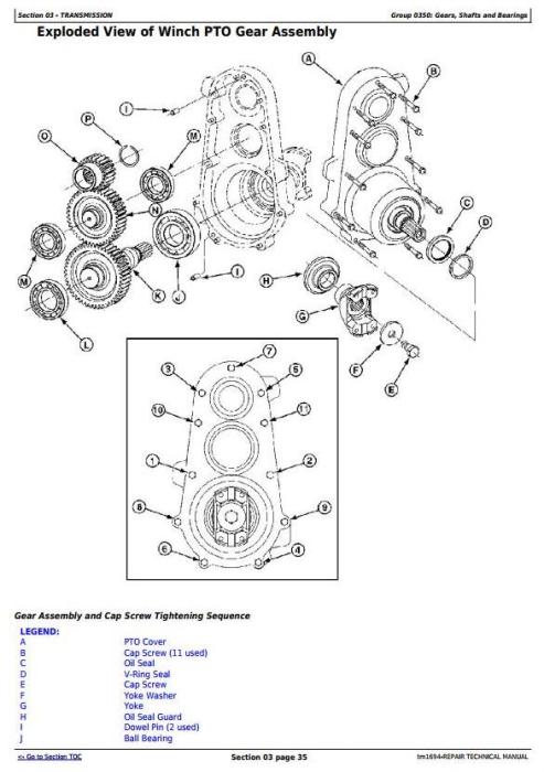 Second Additional product image for - John Deere 540G-II 548G-II 640G-II 648G-II 748G-II (SN.565685-576252) Skidder Repair Manual (TM1694)