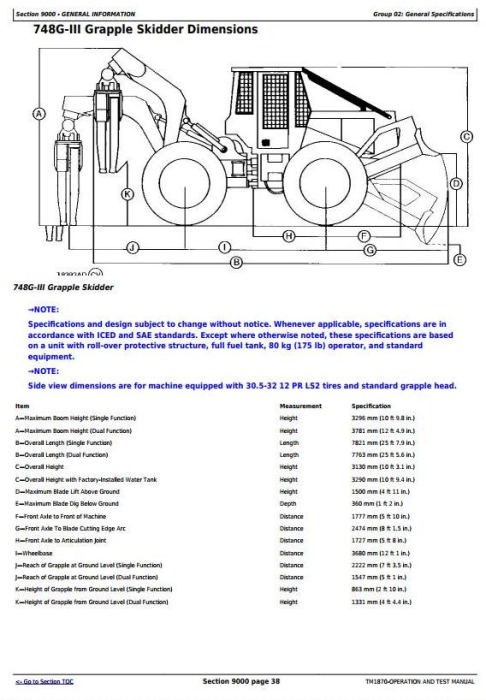 Fourth Additional product image for - John Deere 540G-3, 548G-3, 640G-3, 648G-3, 748G-3 (SN.–586336) Diagnostic Service Manual (TM1870)