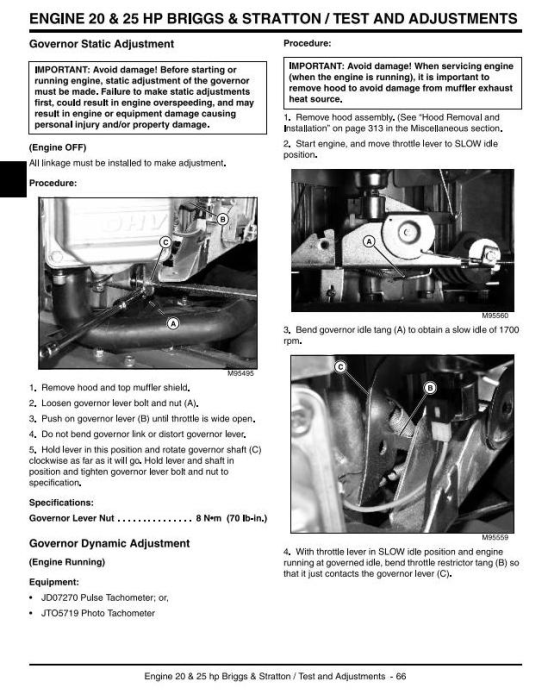 Fourth Additional product image for - Scotts L1642, L17.542, L2048, L2548 Lawn Tractors (by John Deere) Technical Service Manual (tm1949)