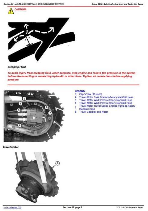 Second Additional product image for - John Deere XCG 210LC-8B Excavator Service Repair Technical Manual (TM11584)