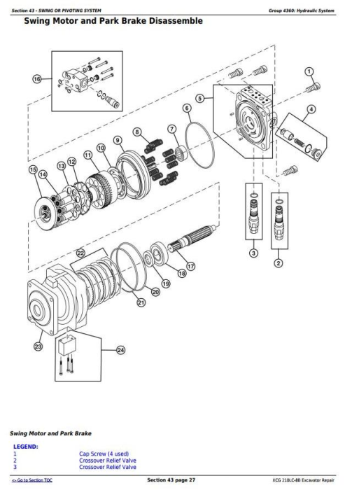Fourth Additional product image for - John Deere XCG 210LC-8B Excavator Service Repair Technical Manual (TM11584)