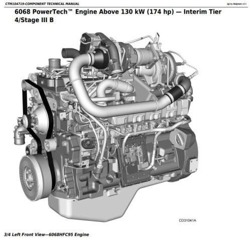 First Additional product image for - PowerTech 6068 Diesel Engine 130kW (174 hp) (Interim Tier 4/Stage III B)Technical Manual (CTM104719)