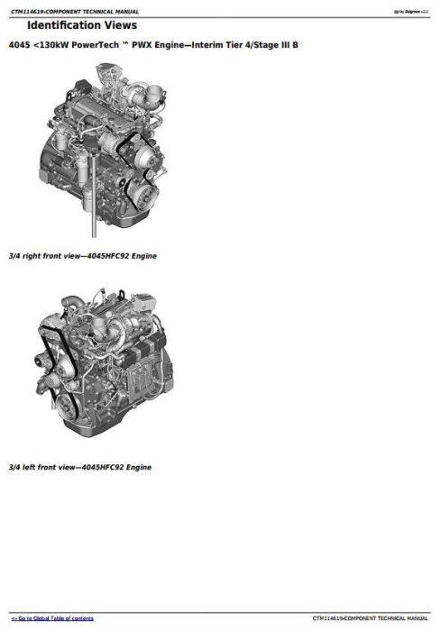 First Additional product image for - PowerTech 4045 Diesel Engine (Interim Tier 4/Stage IIIB) Level 23 ECU Technical Manual (CTM114619)