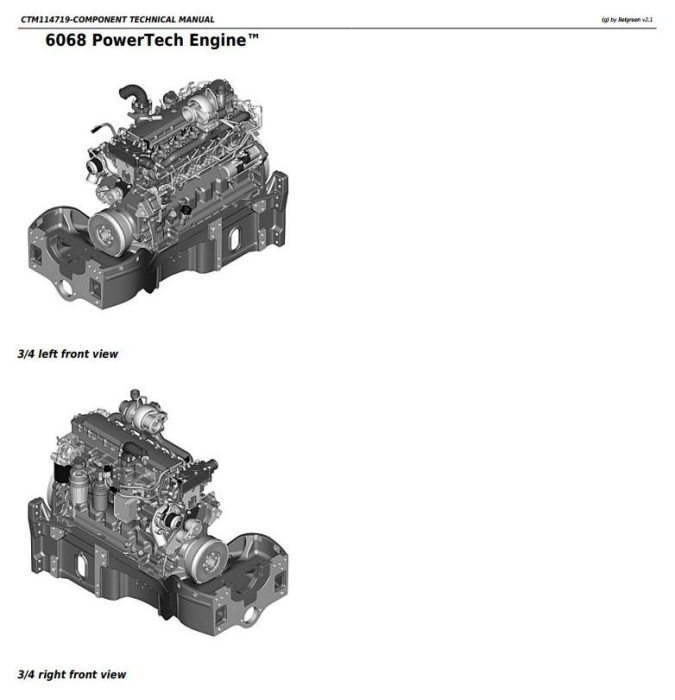 First Additional product image for - PowerTech 6068 Diesel Engine (Stage II platform) Level 24 ECU Technical Service Manual (CTM114719)