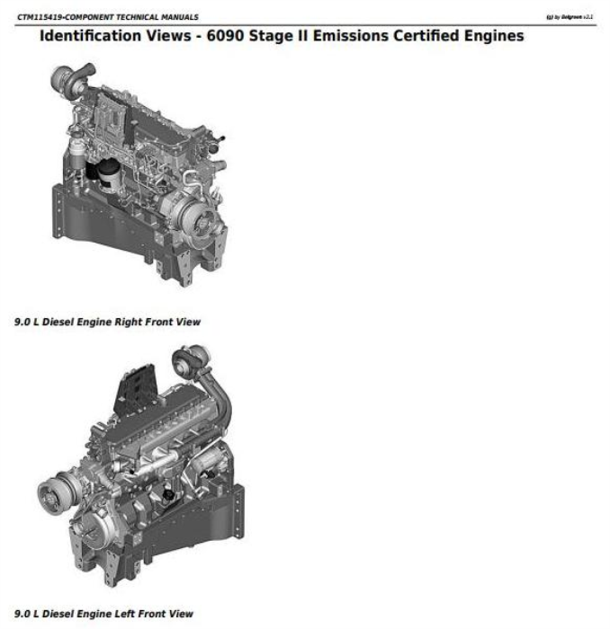 First Additional product image for - PowerTech 6090 Diesel Engines (Stage II Emissions) Level 24 ECU Technical Service Manual (CTM115419)