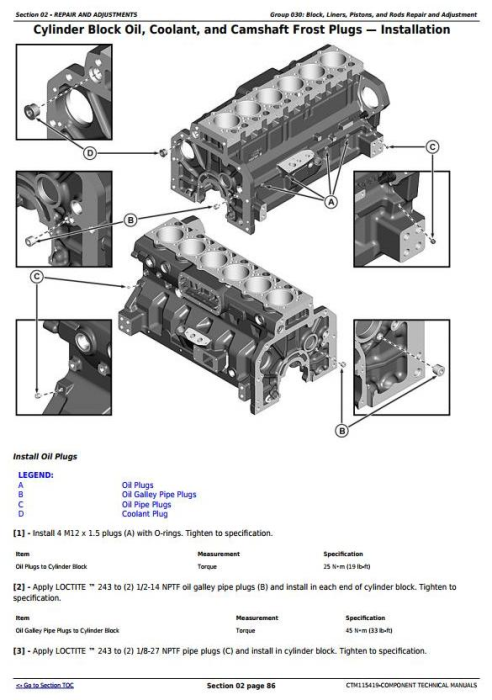 Second Additional product image for - PowerTech 6090 Diesel Engines (Stage II Emissions) Level 24 ECU Technical Service Manual (CTM115419)