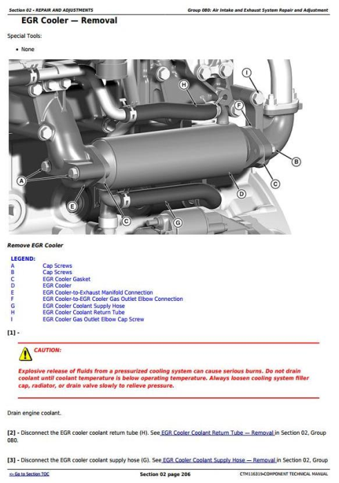 Second Additional product image for - John Deere Yanmar 4TNV94CHT Diesel Engine (Interim Tier 4/Stage IIIB) Technical Manual (CTM116319)