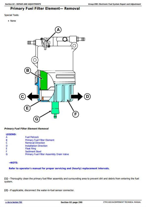 Third Additional product image for - John Deere Yanmar 4TNV94CHT Diesel Engine (Interim Tier 4/Stage IIIB) Technical Manual (CTM116319)