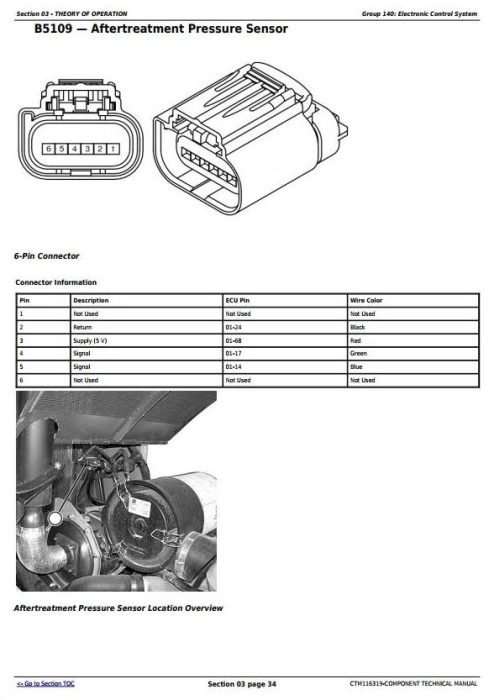 Fourth Additional product image for - John Deere Yanmar 4TNV94CHT Diesel Engine (Interim Tier 4/Stage IIIB) Technical Manual (CTM116319)