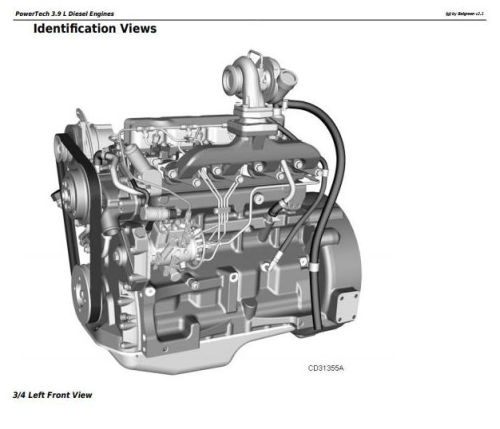 First Additional product image for - PowerTech 3.9L 4039 Diesel Engines Diagnostic and Repair Component Technical Manual (CTM117219)