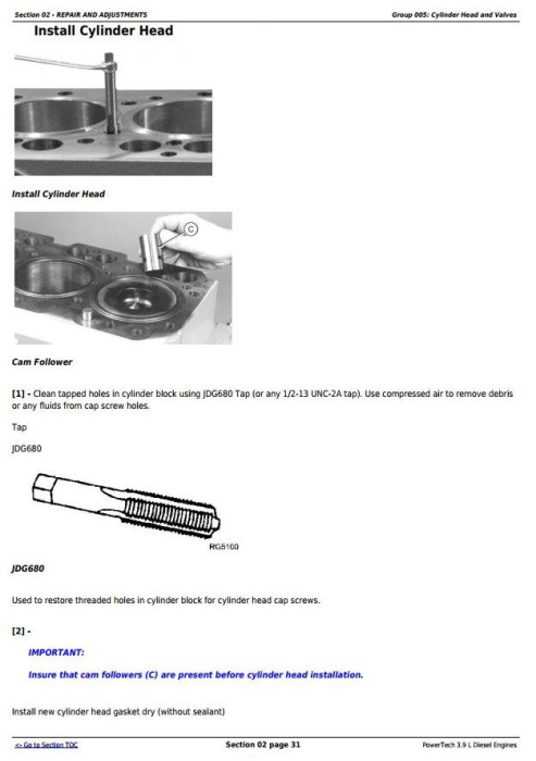 Second Additional product image for - PowerTech 3.9L 4039 Diesel Engines Diagnostic and Repair Component Technical Manual (CTM117219)