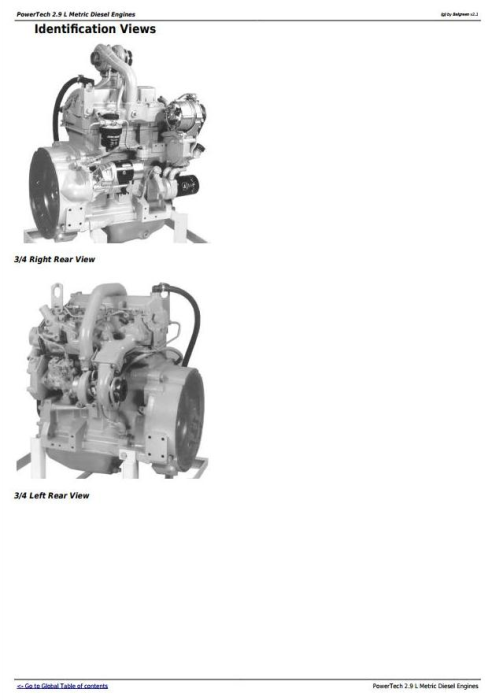 First Additional product image for - John Deere PowerTech 2.9L 3029 Metric Diesel Engine Diagnostic & RepairTechnical Manual (CTM124619)