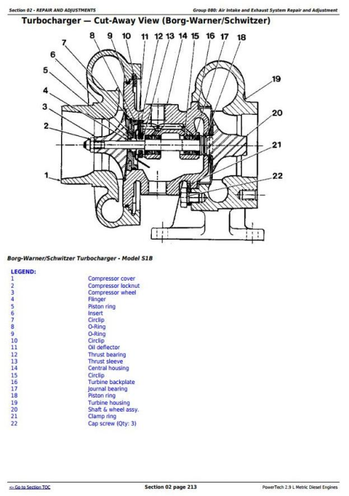 Third Additional product image for - John Deere PowerTech 2.9L 3029 Metric Diesel Engine Diagnostic & RepairTechnical Manual (CTM124619)