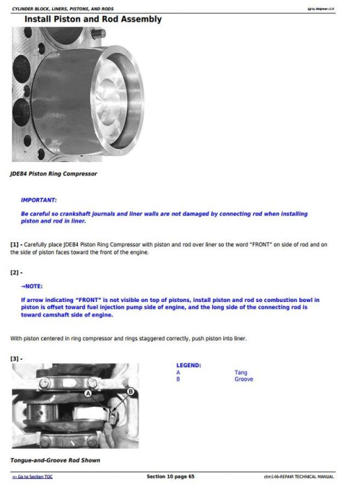 Second Additional product image for - PowerTech 6.8L, 6068 Compressed Natural Gas Engine Repair Technical Manual (ctm146)