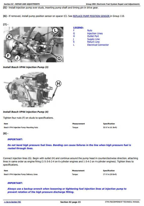 Third Additional product image for - PowerTech 4.5L & 6.8L Diesel Engines Level 4 Fuel System w.Bosch VP44 Pump Technical Manual (CTM170)