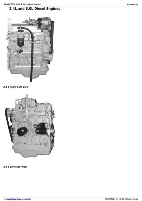 First Additional product image for - Powertech 4024 2.4 L & 5030 3.0 L Diesel Engines Technical Service Manual (CTM301)