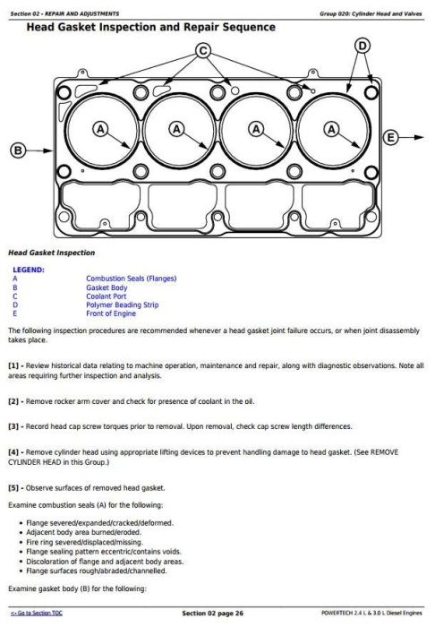 Second Additional product image for - Powertech 4024 2.4 L & 5030 3.0 L Diesel Engines Technical Service Manual (CTM301)